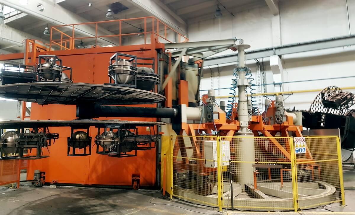 Rotationsmoulding Karussell Maschine